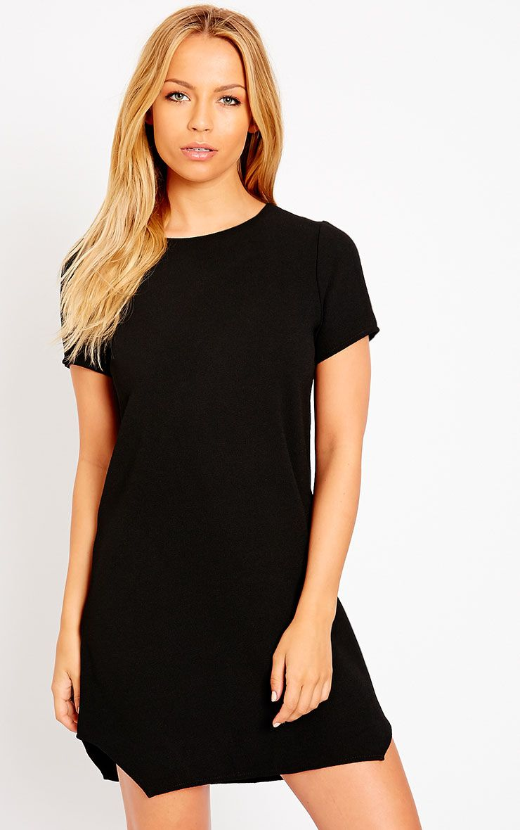 Jeni Black Crew Neck Shift Dress 1