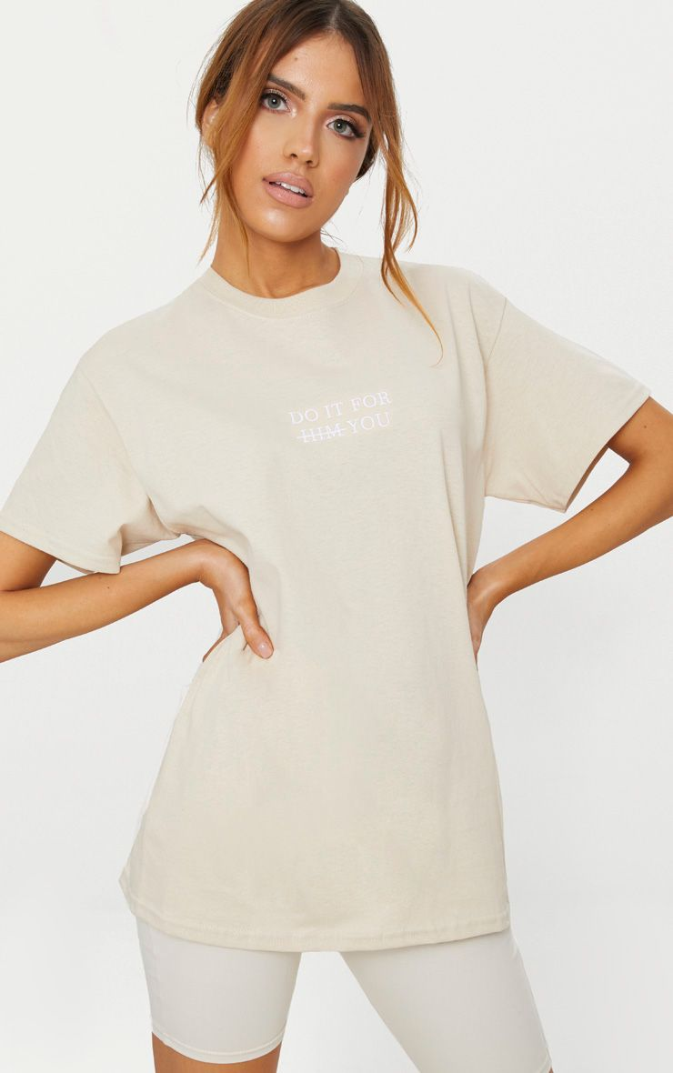 Sand Do It For You Slogan T Shirt