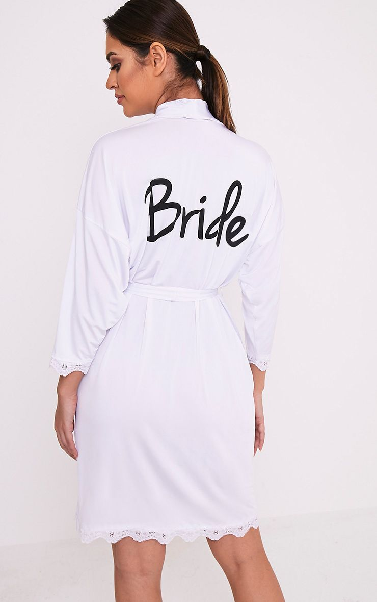 Bride White Slinky Dressing Gown