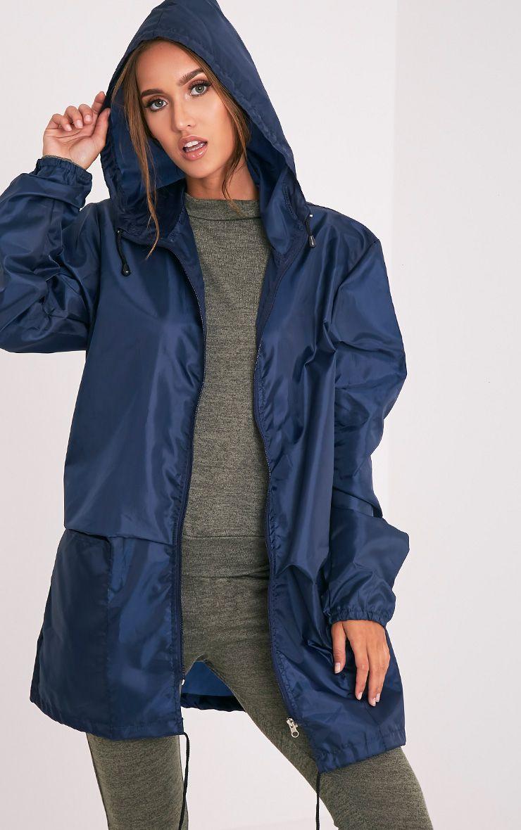 Filhilda Navy Lightweight Rain Mac