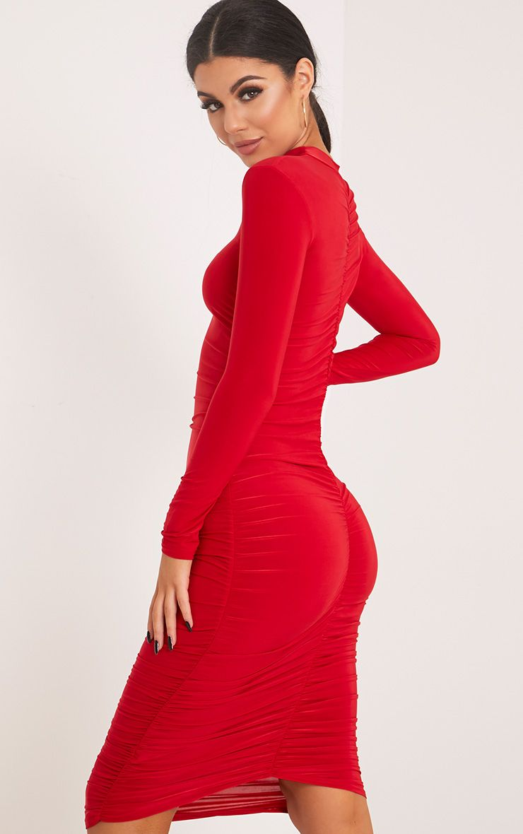 ruched bum bodycon dress cheap online