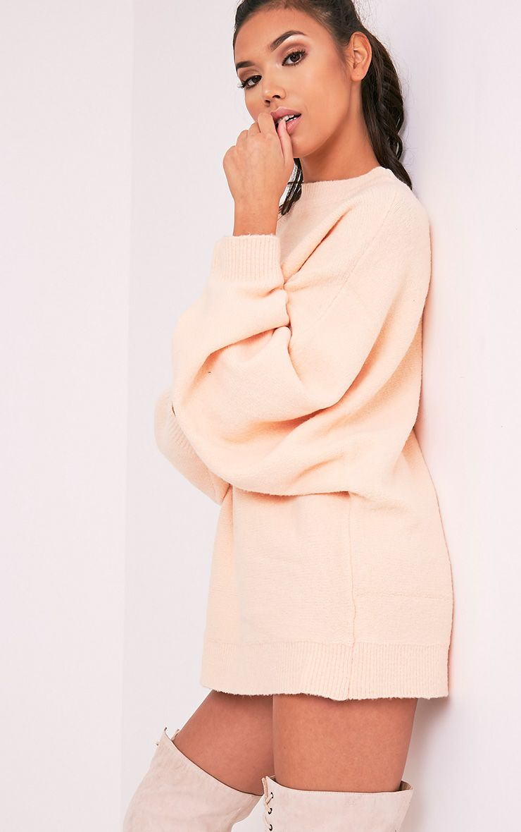 Raysa Nude Oversized Knitted Jumper 1