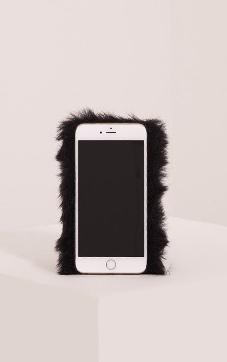 Black Iphone 6+ Fluffy Phone Case 1