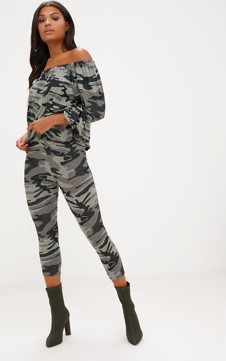 Khaki Camouflage Leggings