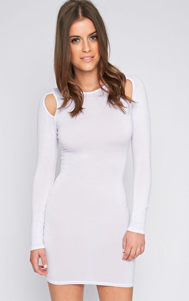 Lexis White Cut Out Mini Dress  1
