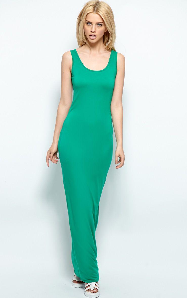 Zoe Green Jersey Maxi Dress 1