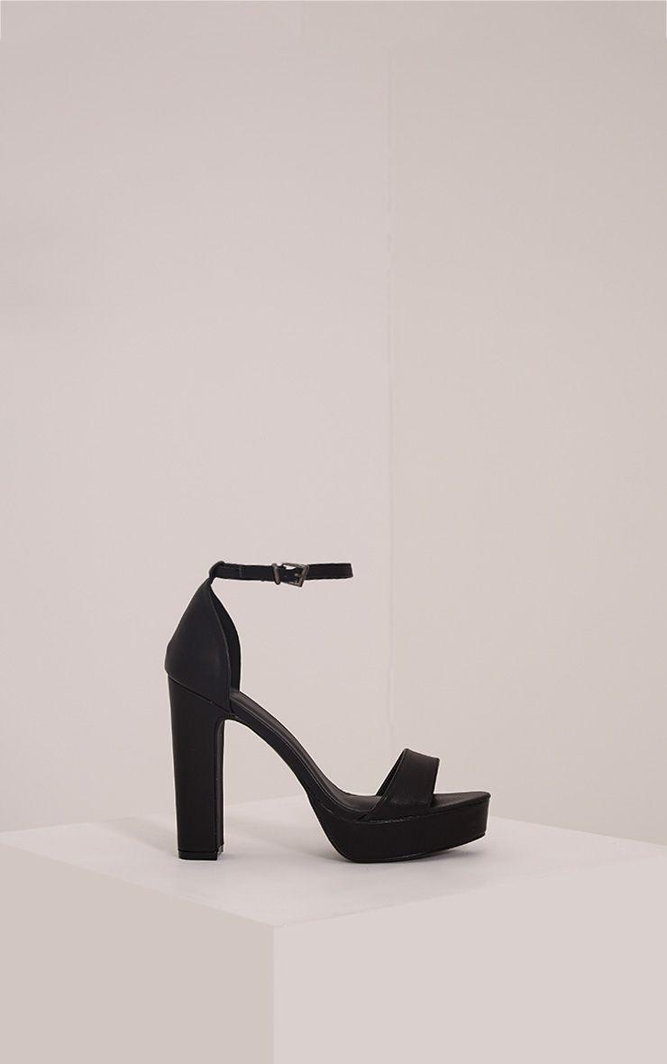 Taya Black PU Platform Sandals