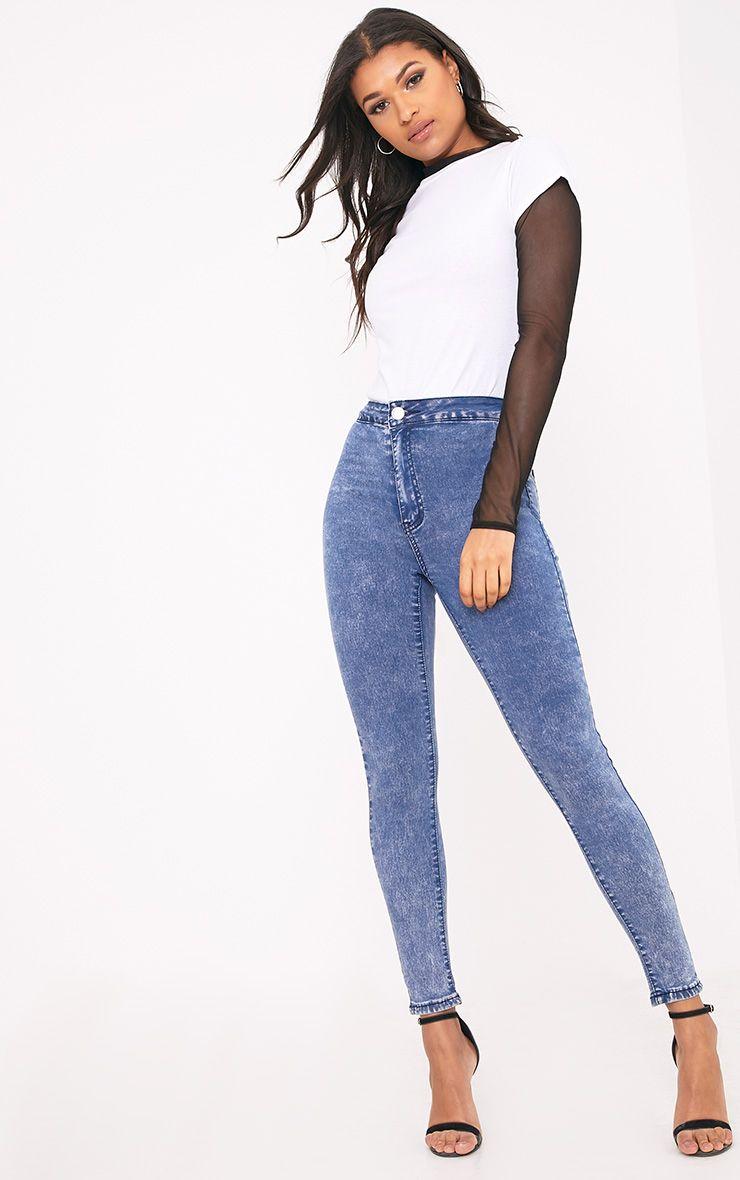 Zahlie Bleach Wash Skinny Jean 1