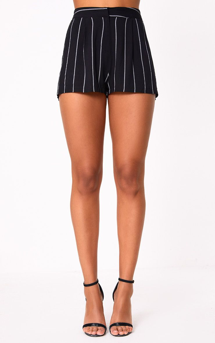 Care One Credit Card >> Black Pinstripe Suit Shorts. Shorts | PrettyLittleThing
