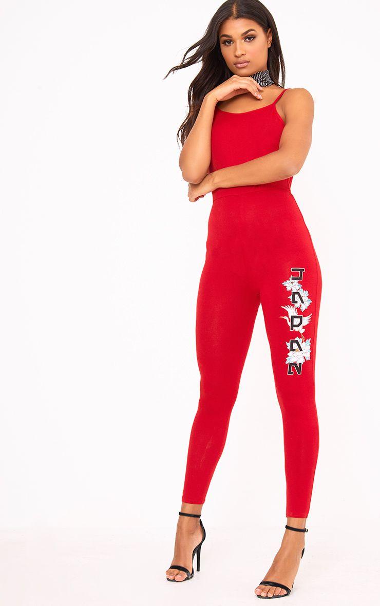Red JAPAN Printed Jumpsuit