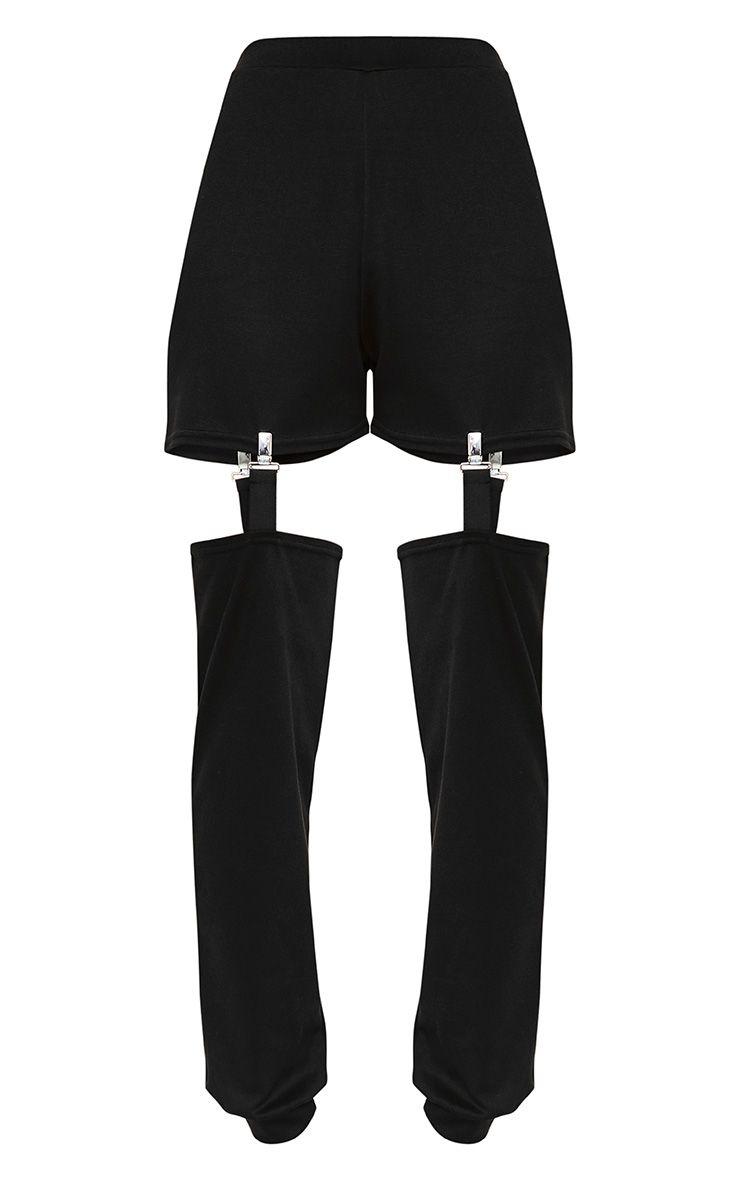 jogging noir style porte jarretelle. Black Bedroom Furniture Sets. Home Design Ideas