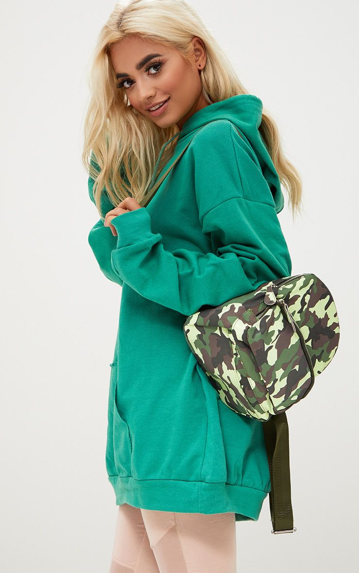 Green Camo Mini Backpack