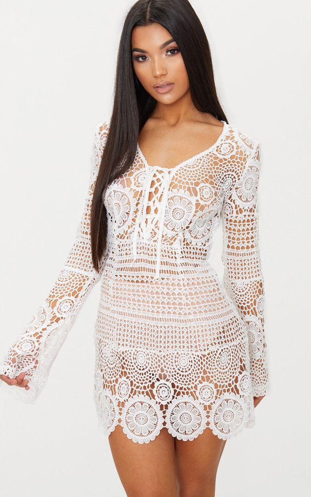 Mini Dresses Long Sleeve Short Dress Prettylittlething Usa