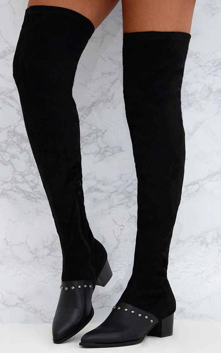 PRETTYLITTLETHING Studded Over The Knee Boot U8gs51O