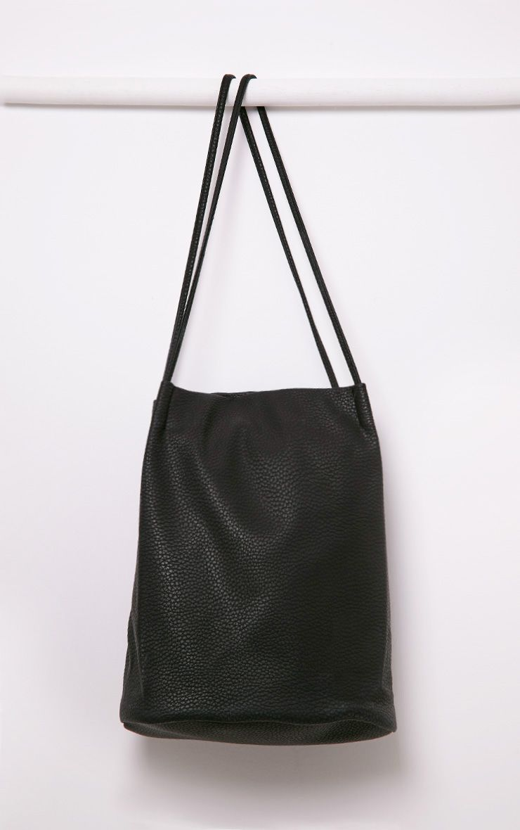 Arlene Black PU Shopper