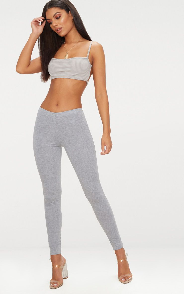 Basic Grey Jersey Leggings