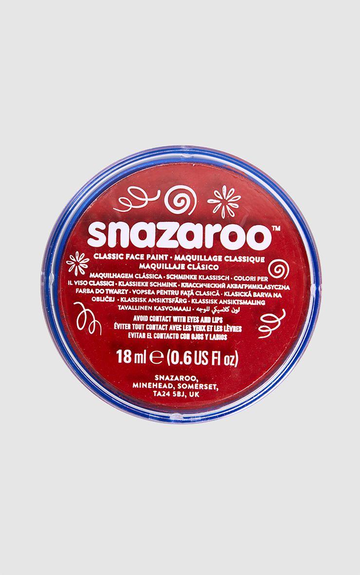 Peinture rouge pour le visage Snazaroo pour Halloween