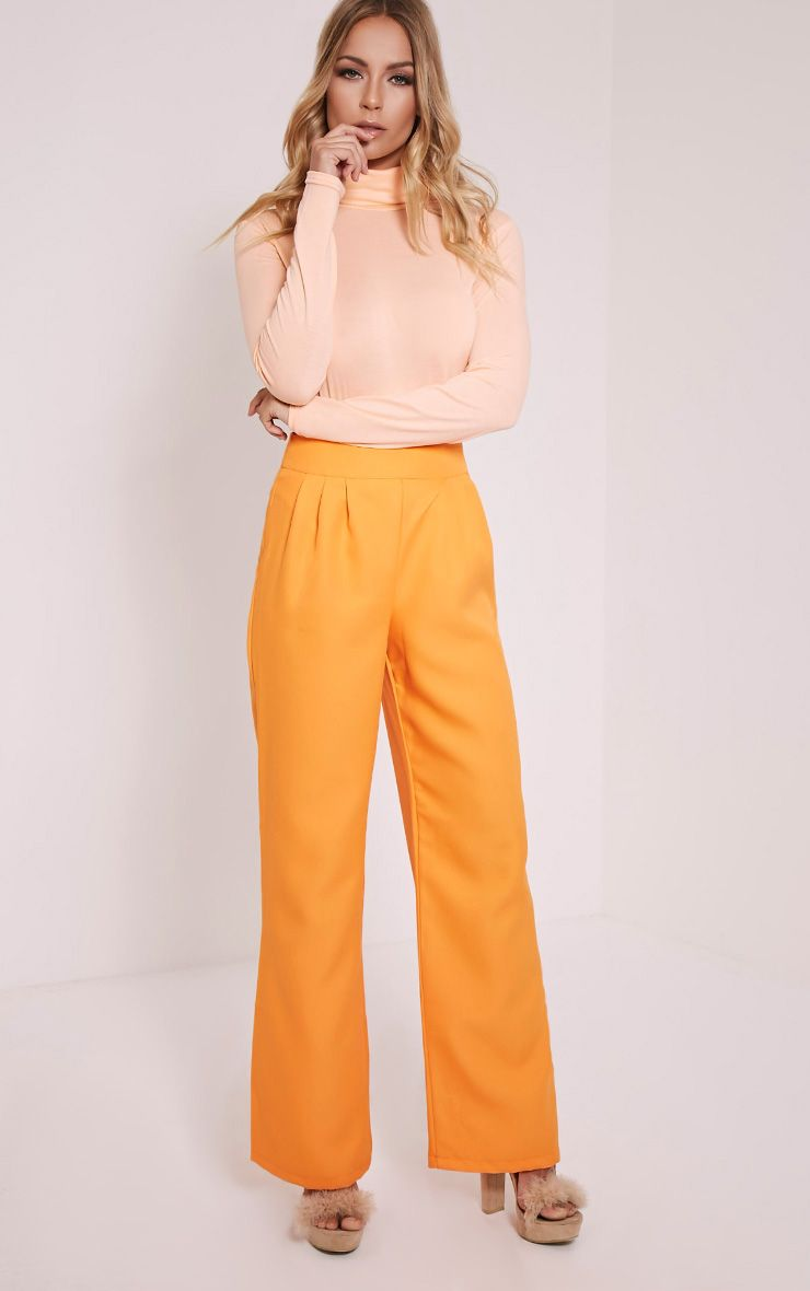 Jada Orange Wide Leg Trousers 1