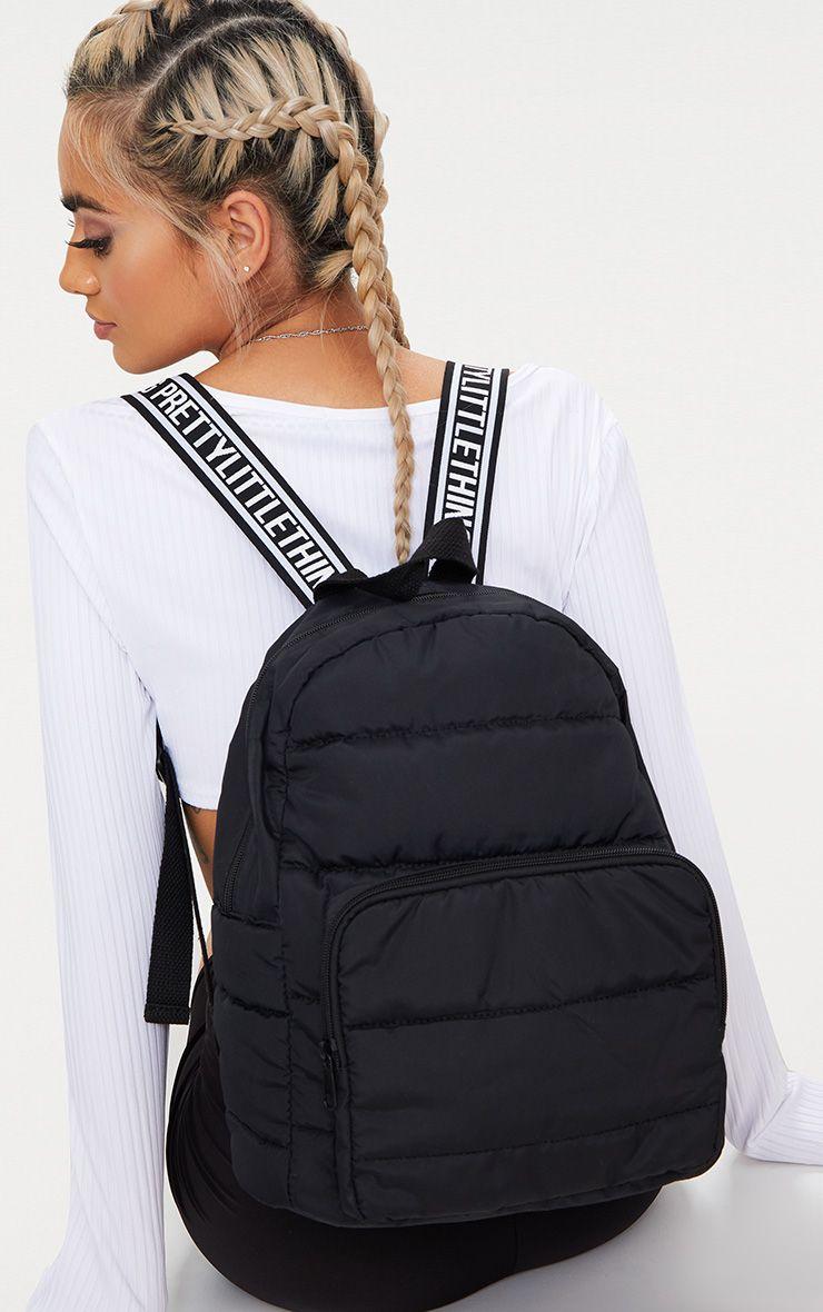 PrettyLittleThing Black Backpack