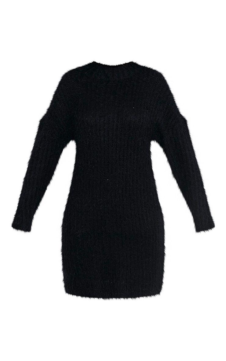 Gordania robe pull surdimensionnée noire en mohair 3