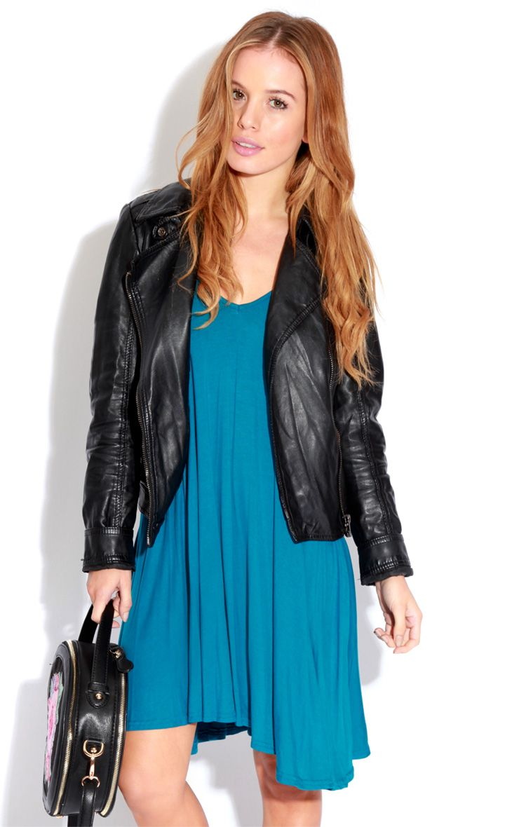 Roze Turquoise Strappy Swing Dress 1