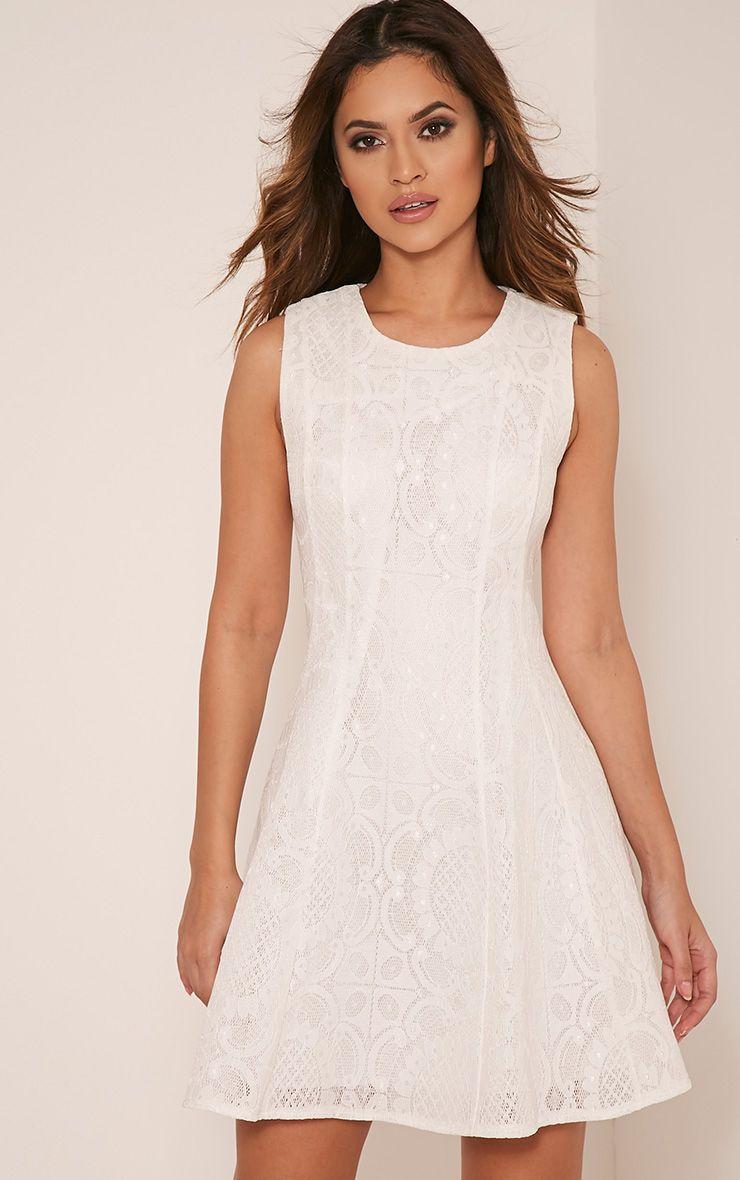 Brianna Cream Baroque Prom Dress 1