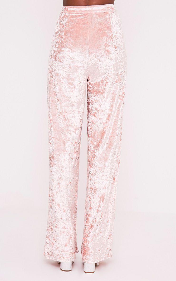 Marisha pantalon coupe ample en velours écrasé blush 5