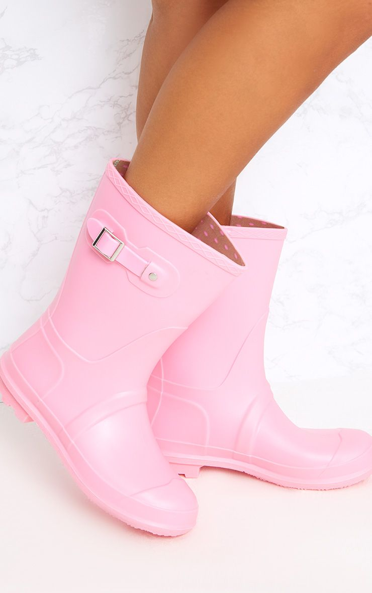 Baby Pink Short Wellies