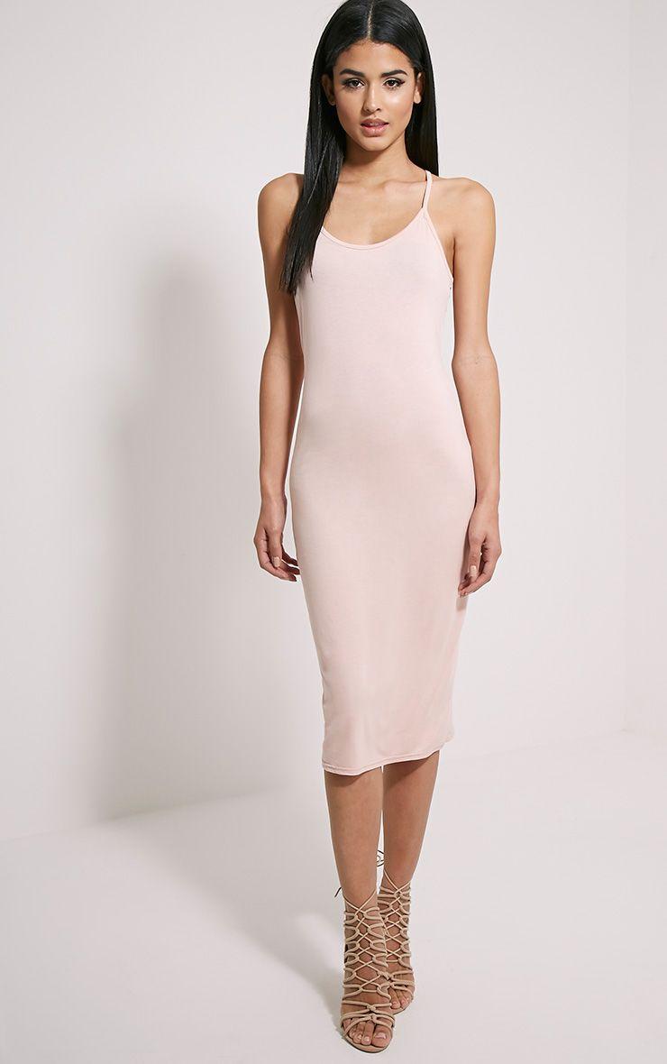 Basic Nude Midi Dress
