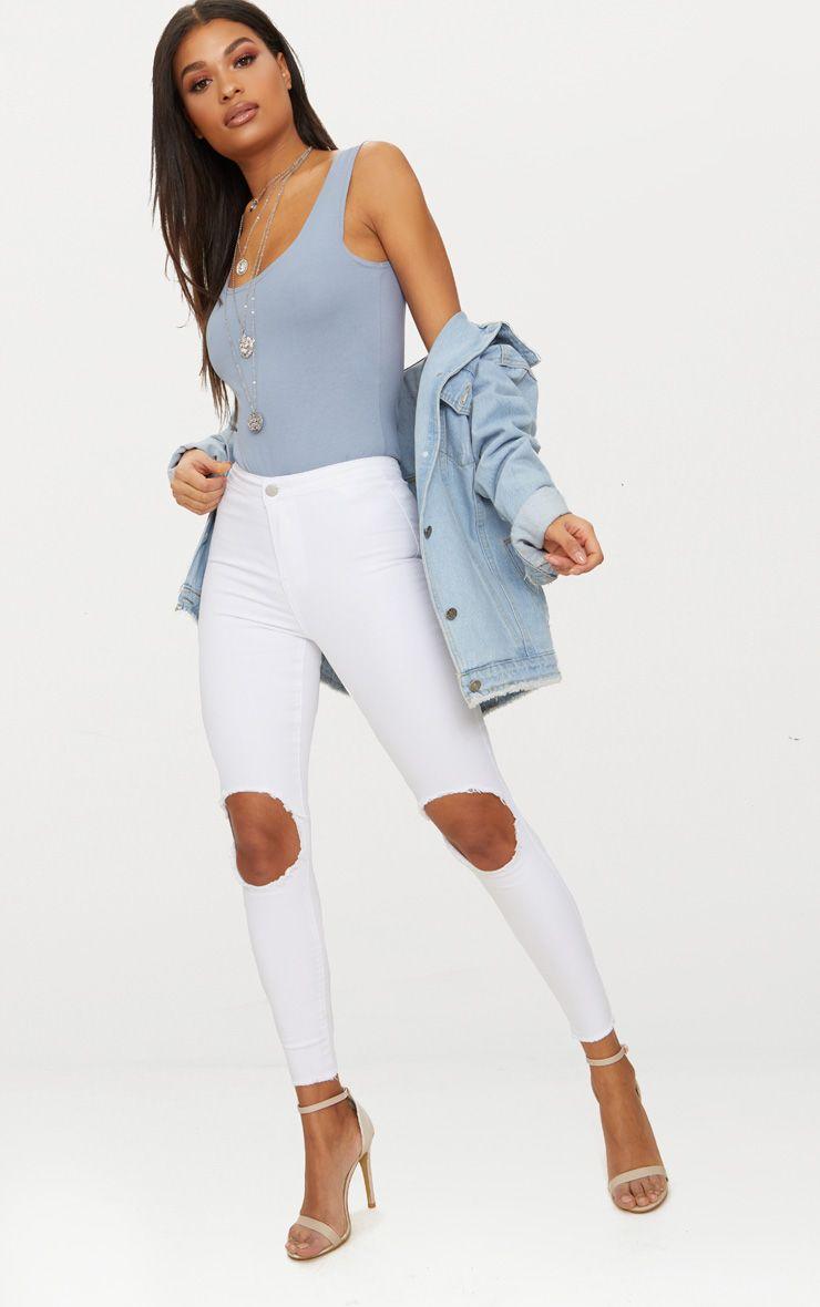 White Knee Rip Disco