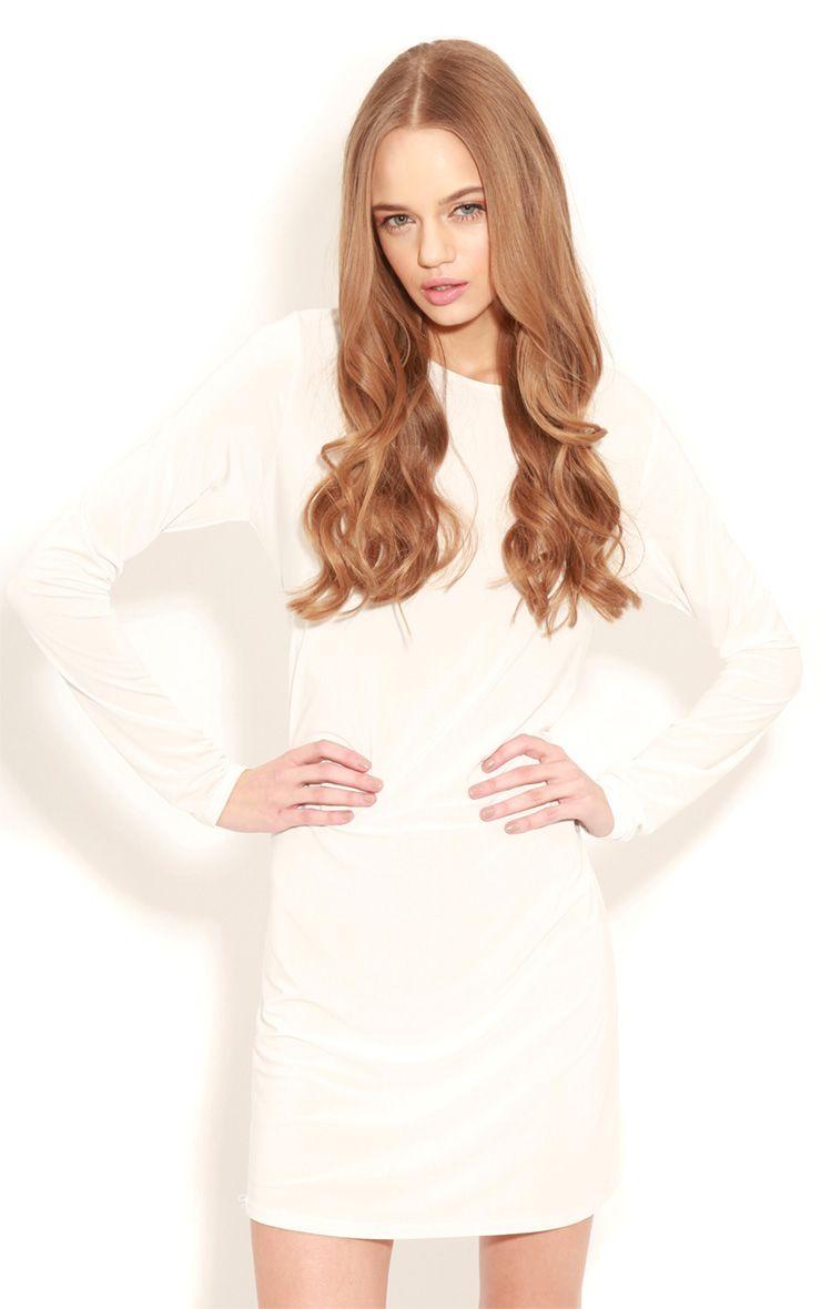 Ellen White Long Sleeved Swing Dress 1