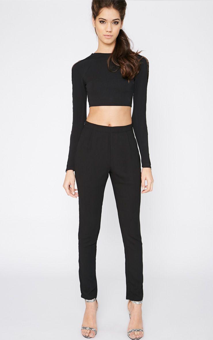 Yesenia Black Crepe Trouser 1