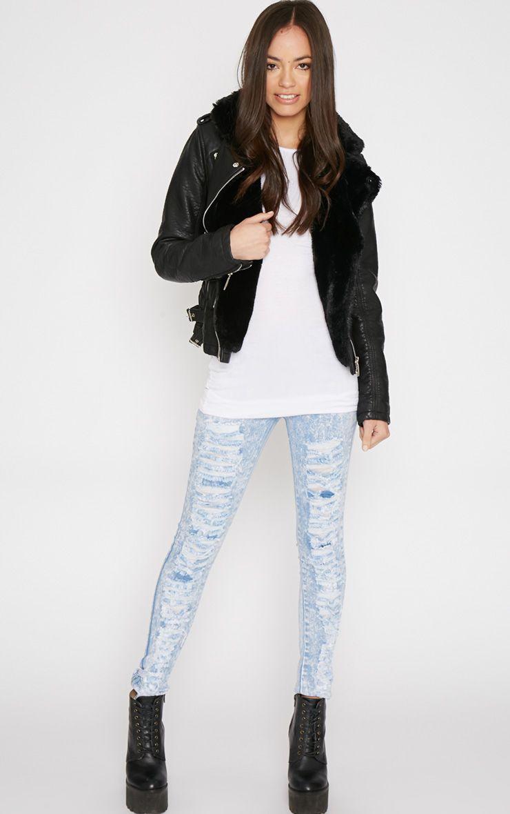 Alivia Rip Front Skinny Jean 1