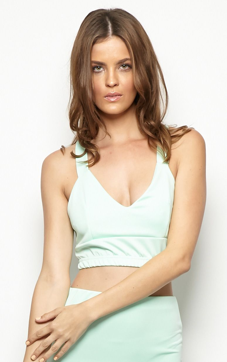 Esme Mint Bralet Crop Top 1
