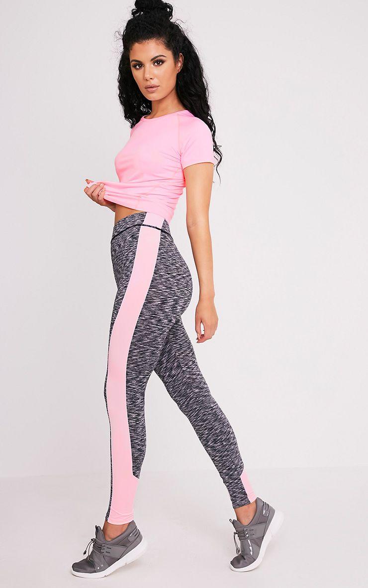 Nisha Baby Pink Side Panel Gym Leggings