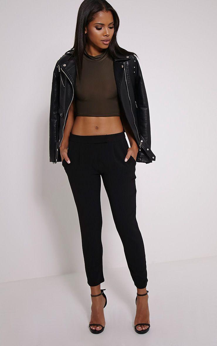 Iris Black Cigarette Trousers 1