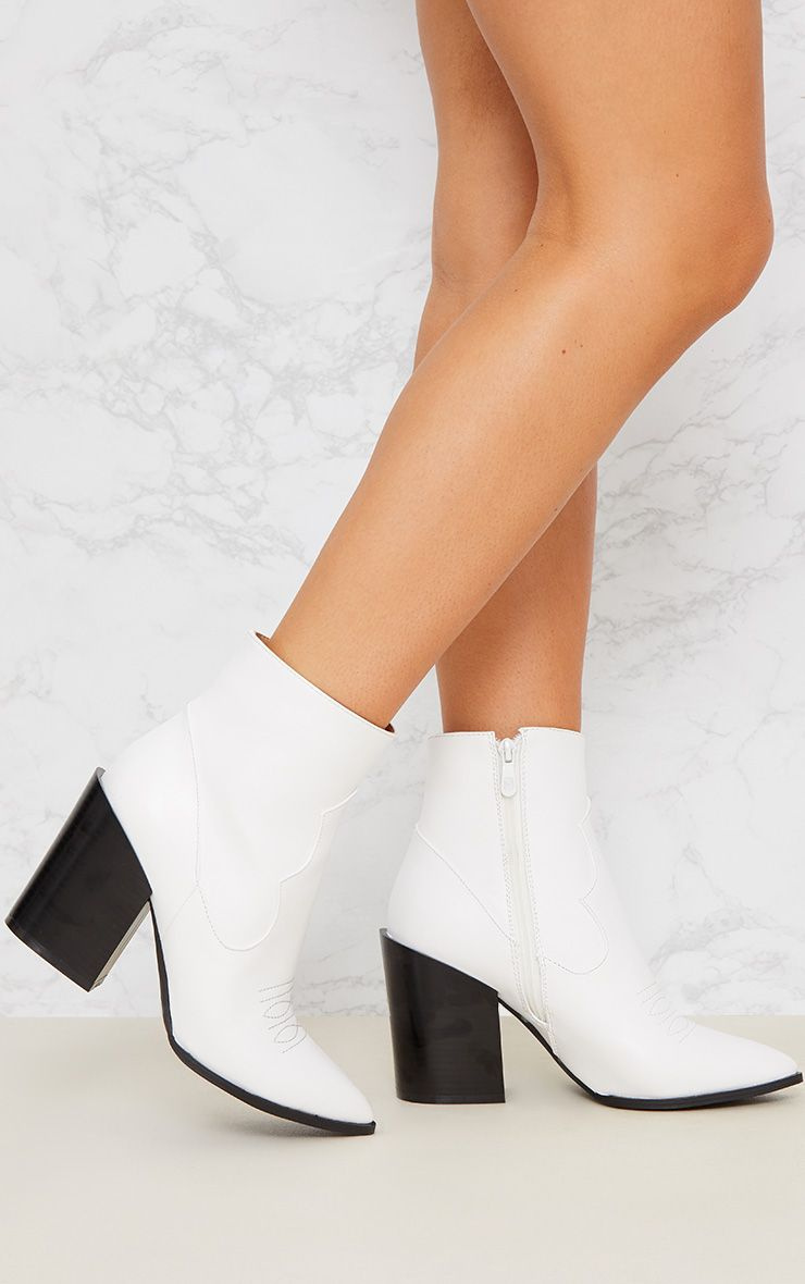 WHITE WESTERN BOOT
