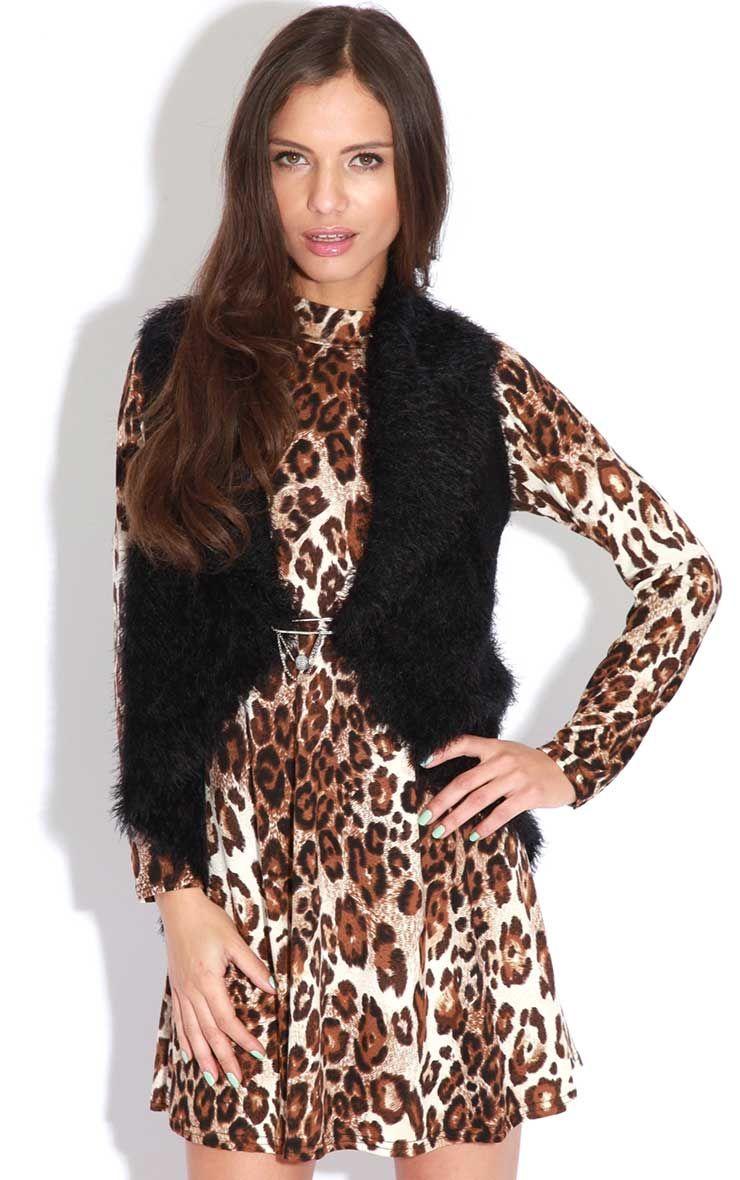 Alexis Black Fur Gilet 1
