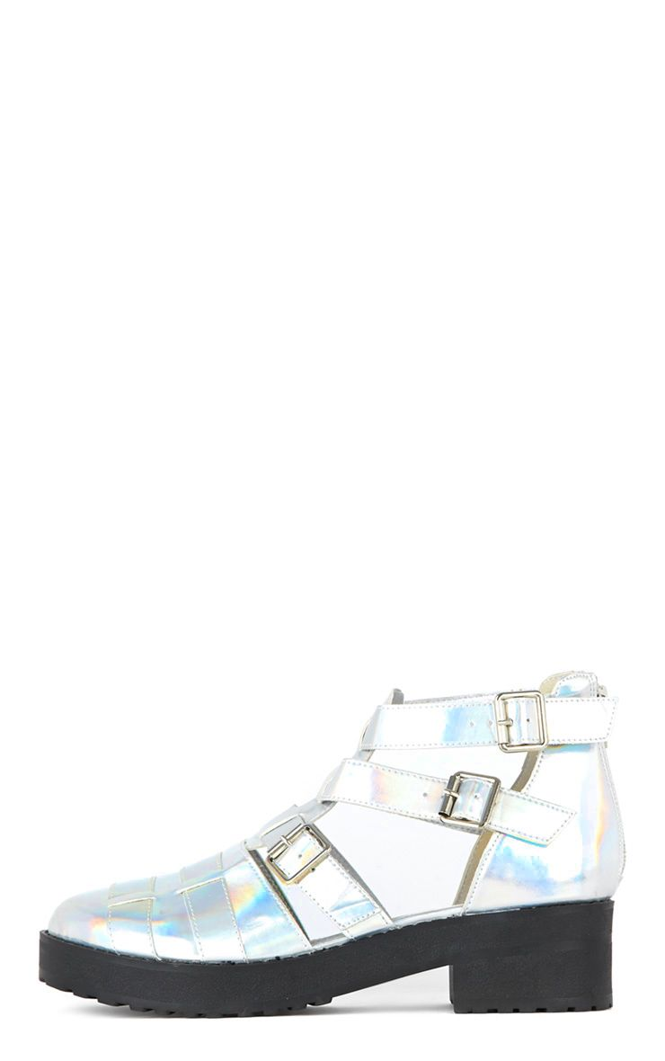 Amber Silver Holographic Sandals 1