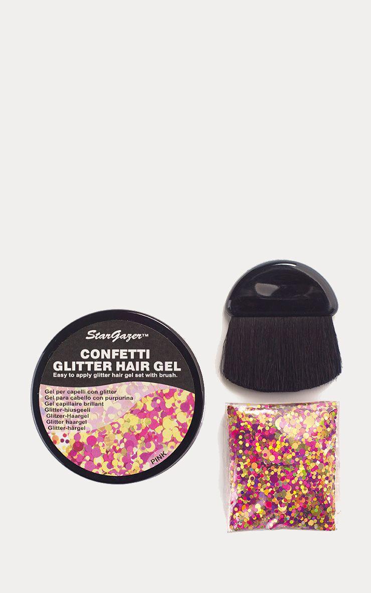 Stargazer Confetti Glitter Hair Kit Pink 1
