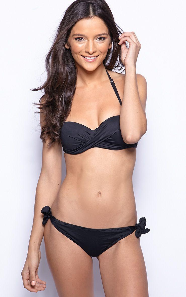 Nola Black Bandeau Bikini  1