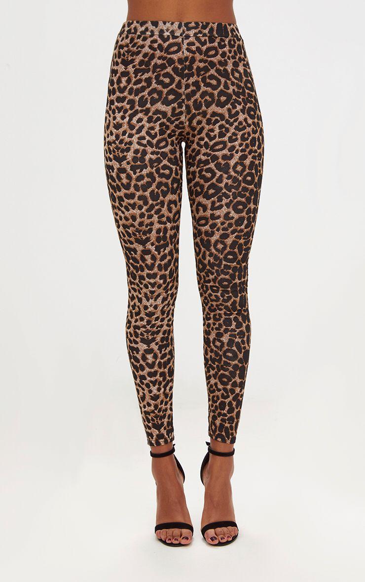 Brown Leopard Print Leggings