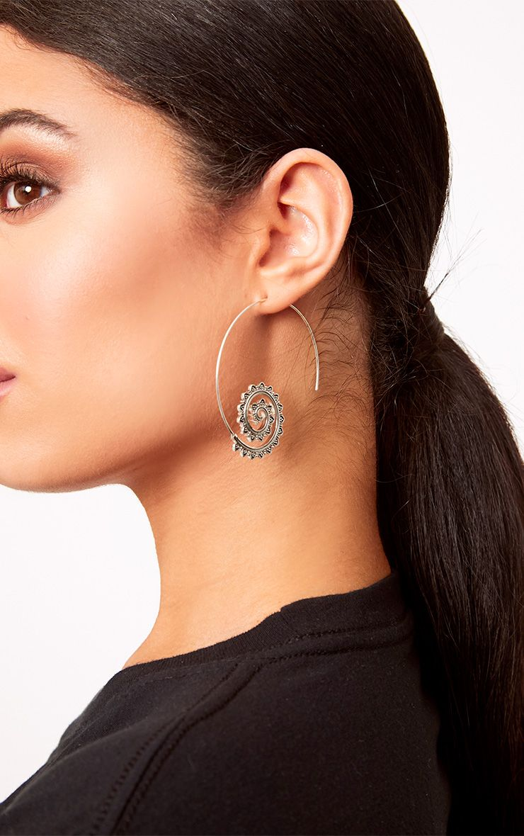 Adya Spiral Thread Through Earrings