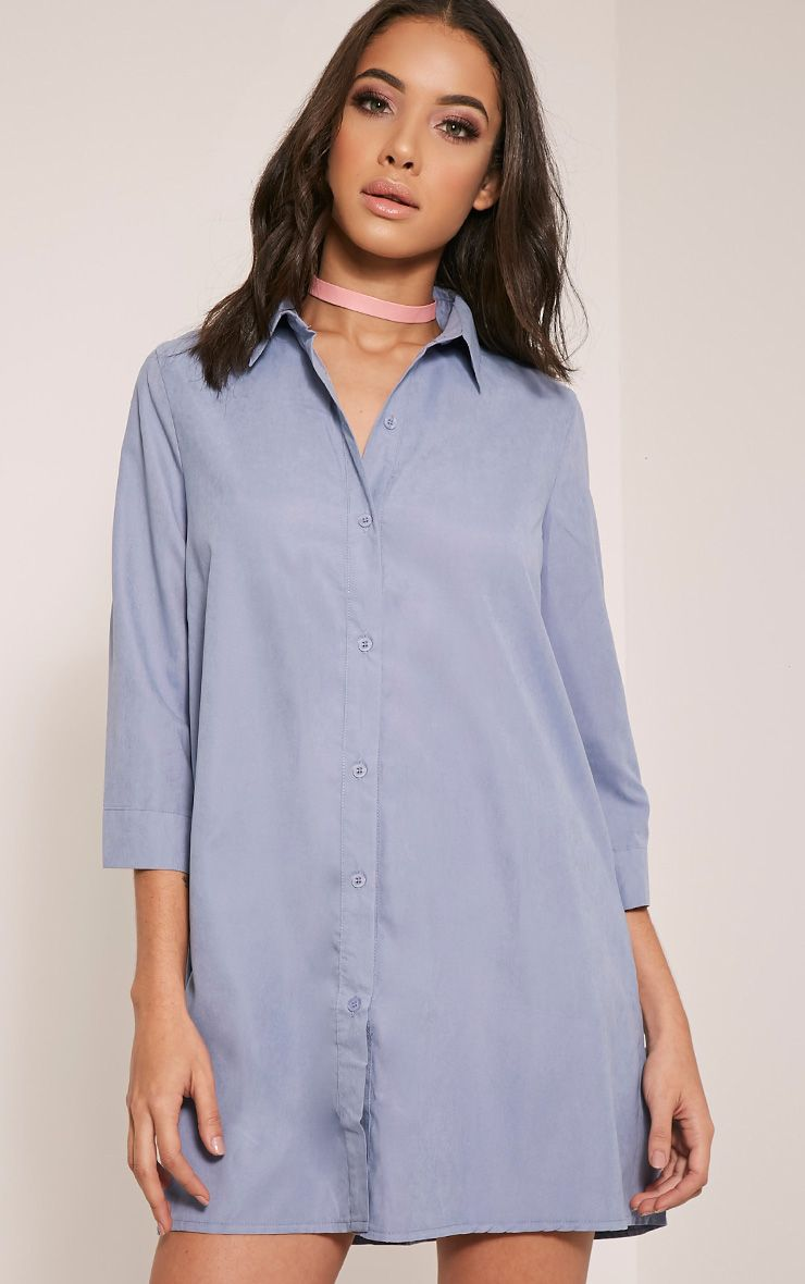 Leni Blue Shirt Dress