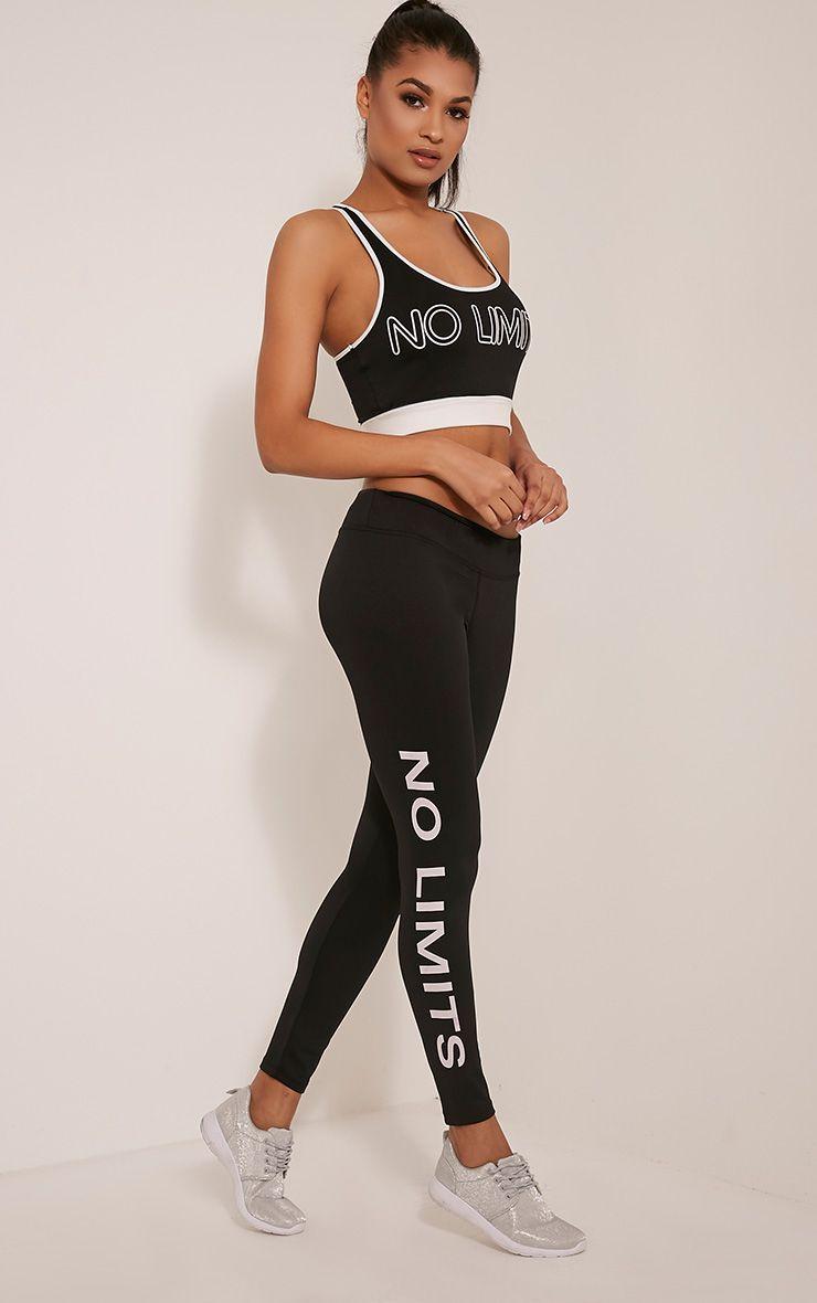 Jaya Black 'No Limits' Gym Leggings