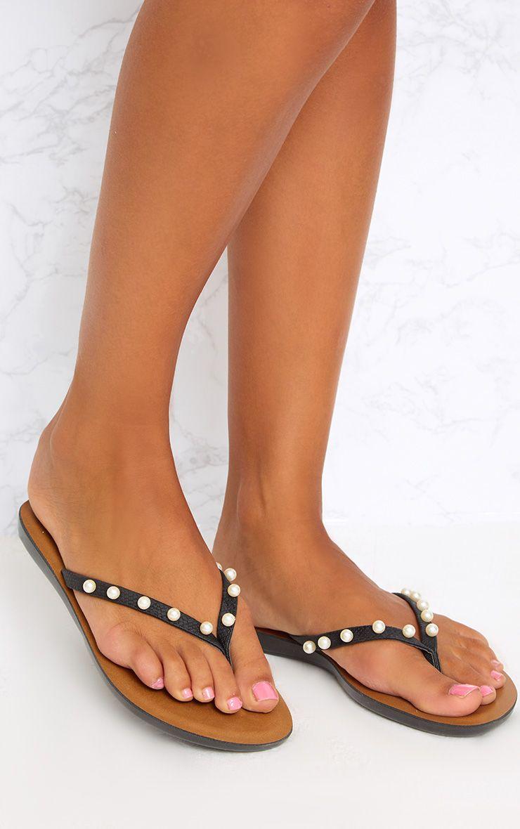 Black Pearl Flip Flops