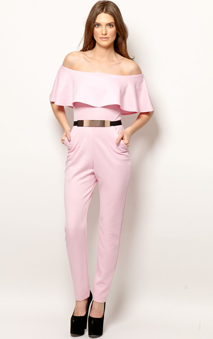 Anastasia Pink Frill Jumpsuit 1