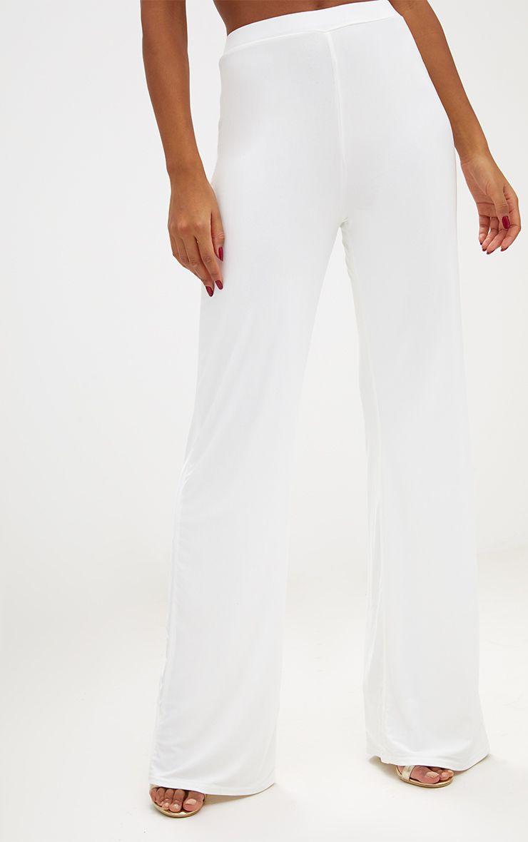 Cream Slinky Palazzo Trousers 5