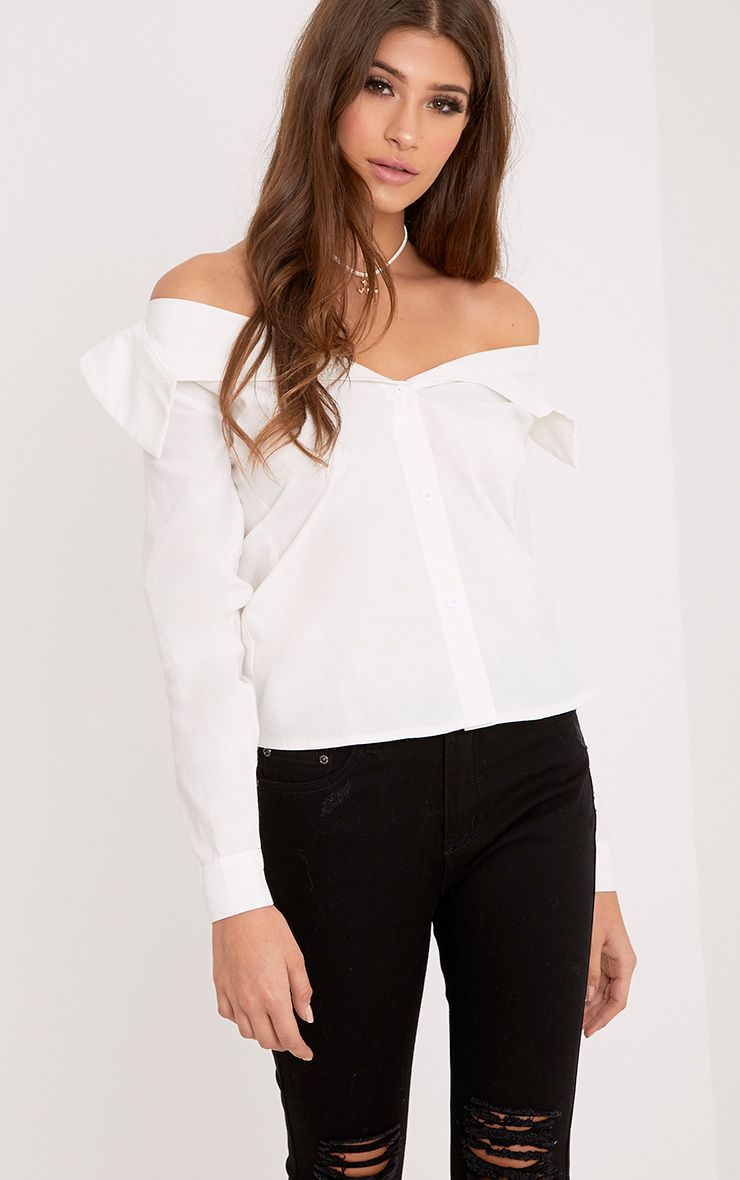 Abagel White Bardot Shirt