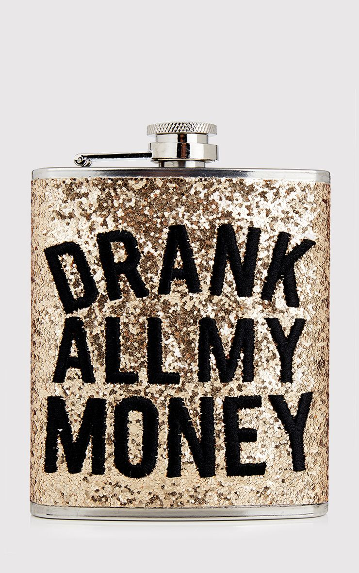 SkinnyDip Drank All My Money Hip Flask
